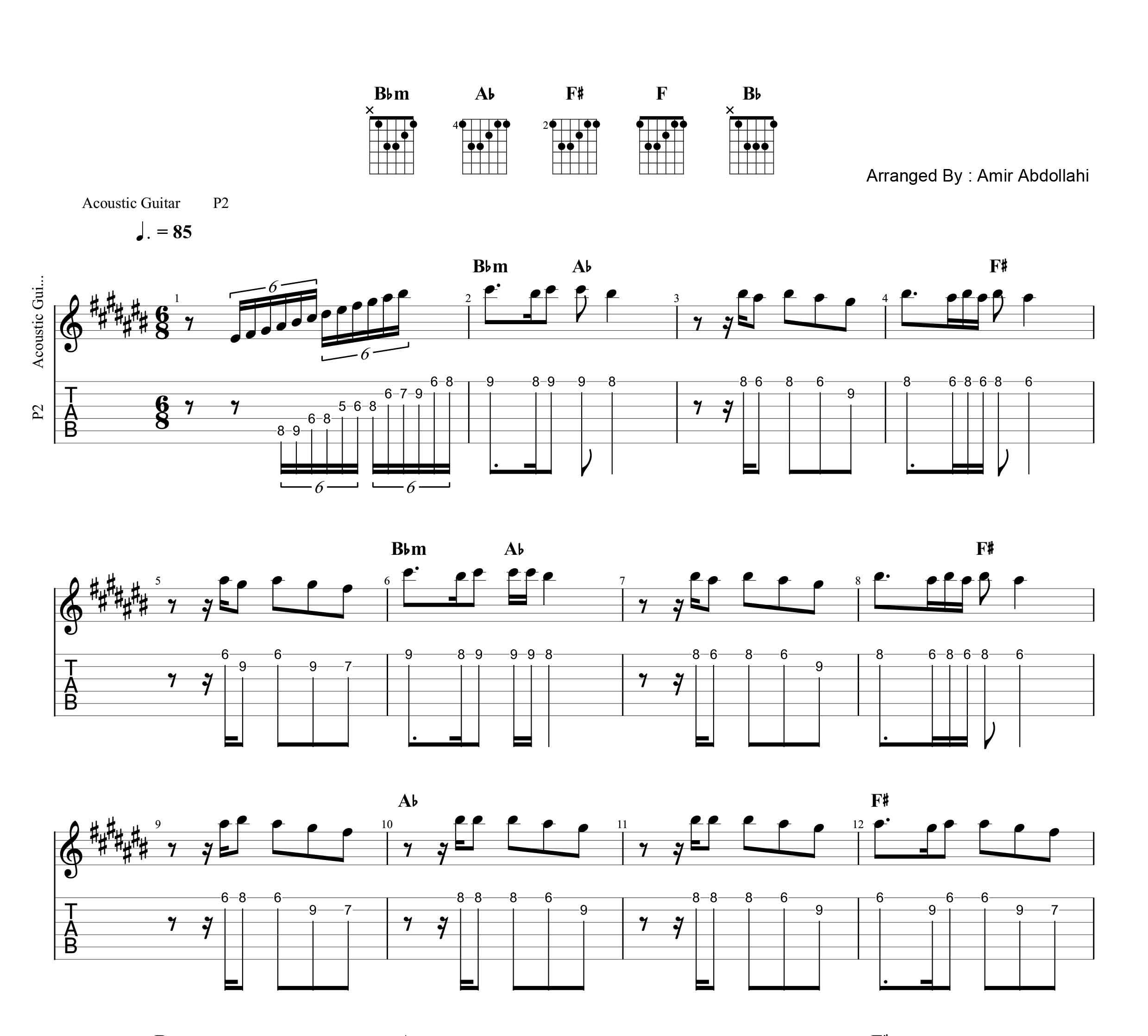 نت و تبلچر پاییز از شادمهر عقیلی به همراه آکورد برای گیتار
