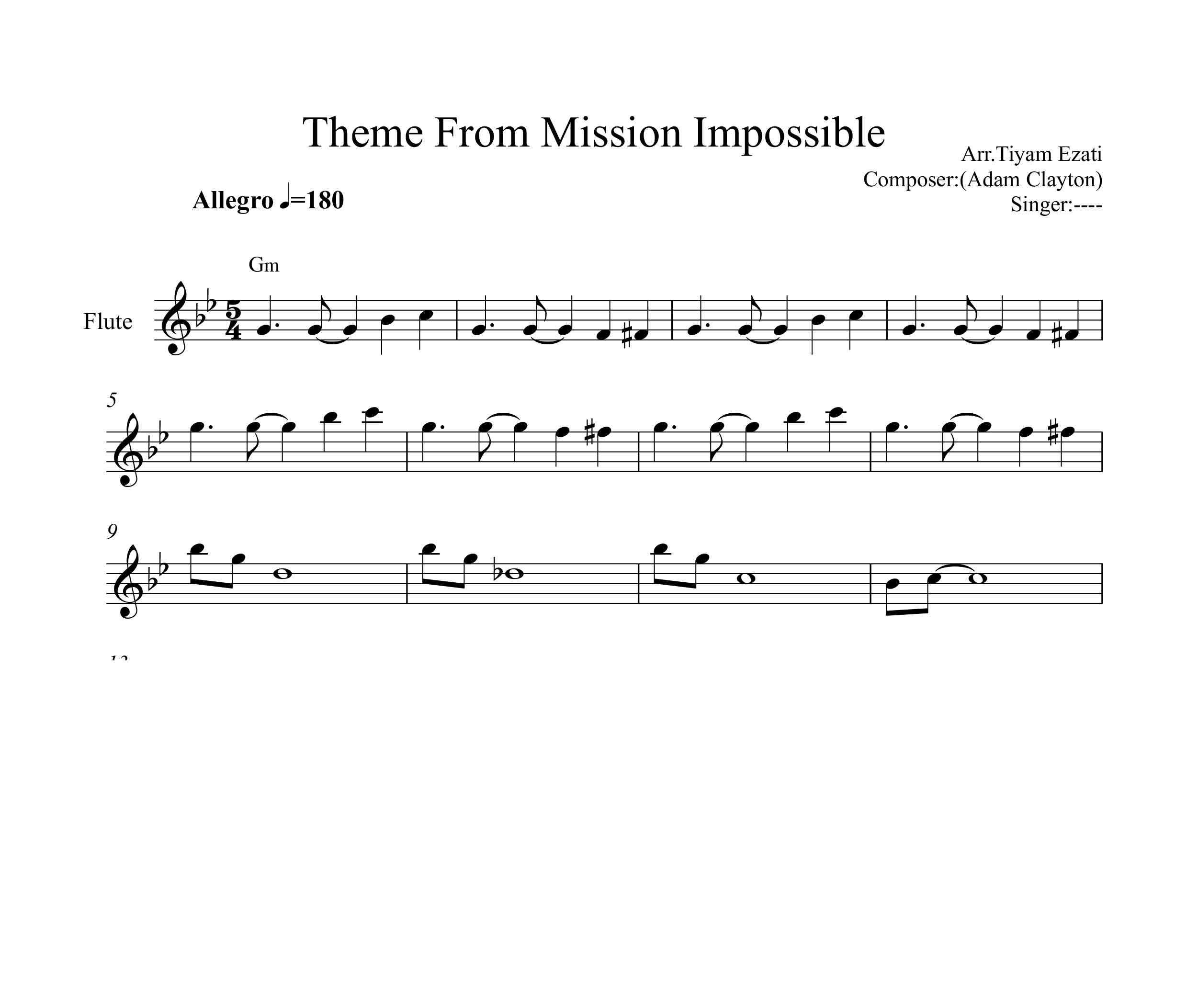 نت فلوت فیلم ماموریت غیر ممکن Mission Impossible