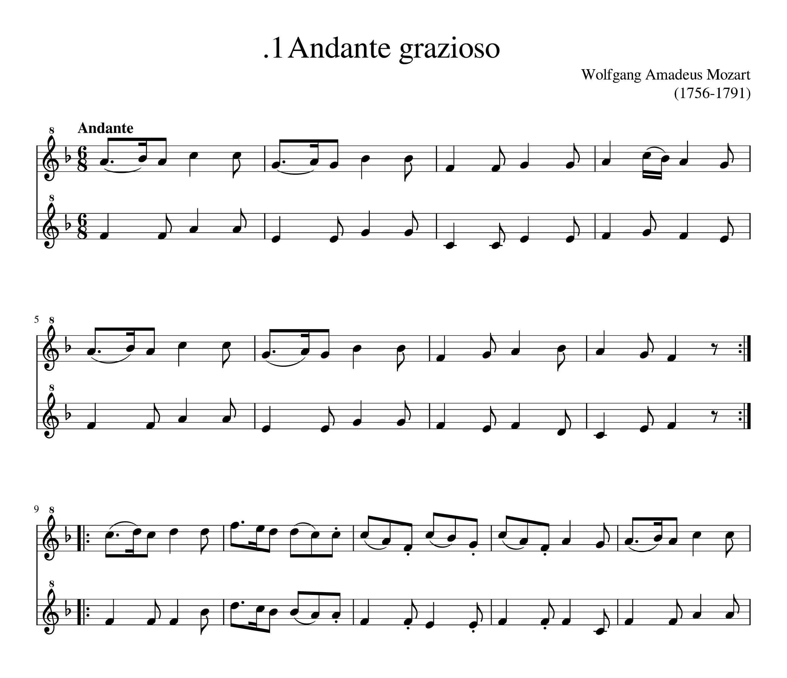 نت 9 قطعه  کلاسیک تنظیم شده برای دو نوازی فلوت ریکوردر